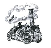 Steampunk-Maschine Stockfotos