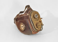 Steampunk mask. Old vintage steampunk mask isolated on the white background stock photography