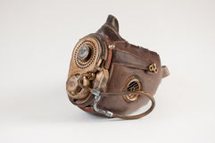 Steampunk mask. Old vintage steampunk mask isolated on the white background royalty free stock photos