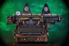Steampunk maszyna do pisania zdjęcia royalty free