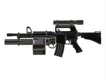 Steampunk Maszynowy pistolet Zdjęcia Stock