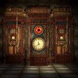 Steampunk maszyny pokój ilustracja wektor