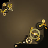 Steampunk mechanical background Royalty Free Stock Photography