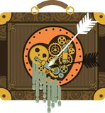 Steampunk mechanical heart Stock Photos