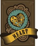 Steampunk mechanical heart Royalty Free Stock Photo