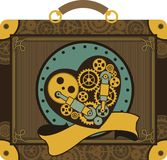 Steampunk mechanical heart Royalty Free Stock Images