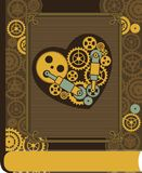 Steampunk mechanical heart Royalty Free Stock Image