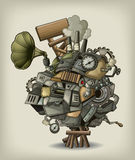 Steampunk mechanism royalty free illustration