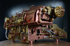 The steampunk mechanism. stock images