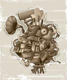 Steampunk mechanism grunge Stock Image