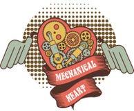 Steampunk mechanism heart Stock Photo