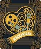 Steampunk mechanism heart Royalty Free Stock Photography