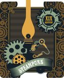 Steampunk mechanism Royalty Free Stock Images