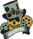 Steampunk mechanism skull Stock Image