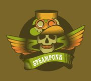 Steampunk mechanism skull Royalty Free Stock Photography