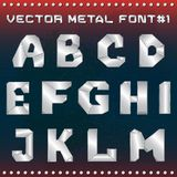 Steampunk metal alphabet for design vector illustration