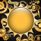 Steampunk metal gear background Royalty Free Stock Image