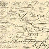 Steampunk modeló el papel - autógrafos históricos del vintage - las firmas de la figura histórica - haciendo a mano libre illustration