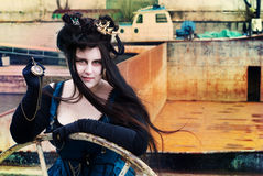 Steampunk model Royalty Free Stock Images
