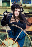 Steampunk model Stock Images