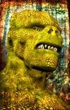 Steampunk monster dinosaur royalty free illustration