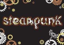 Steampunk Mot tiré par la main unique de lettrage dans le style de steampunk Image libre de droits