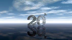 Steampunk número vinte sob o céu azul ilustração royalty free