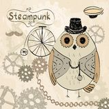 Steampunk owl Stock Images