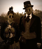 Steampunk-Paare Stockfotos
