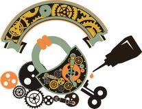 Steampunk padlock Royalty Free Stock Photo