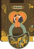 Steampunk padlock Stock Photo