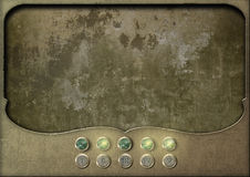 Steampunk panel control board empty Royalty Free Stock Images