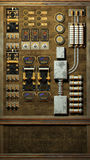 Steampunk panelu tło royalty ilustracja