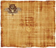 Steampunk Parchment Stationery Background Royalty Free Stock Photo