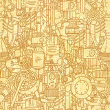 Steampunk pattern Royalty Free Stock Photos