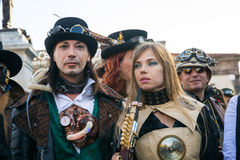 Steampunk people Stock Photos