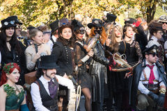 Steampunk people Stock Images