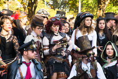 Steampunk people Stock Photo