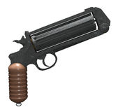 Steampunk pistol Royalty Free Stock Photography