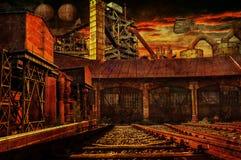 Steampunk pociągu zmiany stacja Fotografia Stock