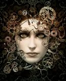 Steampunk Portrait 3d CG Stock Images