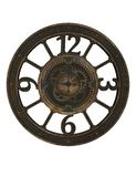 Steampunk przekładnia i zegar Zdjęcia Stock