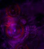 Steampunk przekładni stary mechanizm na tle stary rocznika pa Obrazy Royalty Free