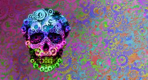 Free Steampunk Psychedelic Surreal Skull Decor Royalty Free Stock Image - 160468576