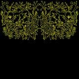 Steampunk, résumé, fond jaune de fractale d'ensemble Illustration de Vecteur