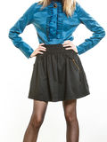 Steampunk retro girl portrait. Royalty Free Stock Photography