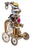 Steampunk robot Royaltyfri Bild