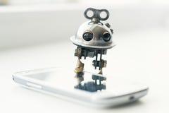 Steampunk robot Arkivfoton