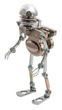 Steampunk robot. royalty free stock photo