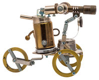 Steampunk robot. Royalty Free Stock Images
